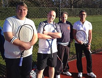 Wellington Men's tennis team Jan 2014
